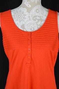 Style&Co. Womens XSmall Poppy Red Pleated Sleeveless Tank Top NEW Shirt #StyleCo #TankCami #Casual