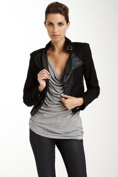 Double Zero Asymmetric Zipper Jacket. Love.
