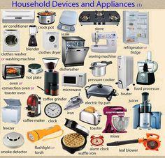 Forum | ________ Learn English | Fluent LandHousehold Devices vs Appliances | Fluent Land