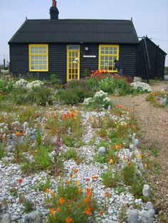 Prospect Cottage, Derek Jarman's house and garden, in Dungeness in Kent.