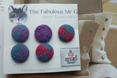 Harris Tweed 25mm Buttons by TheFabulousMrG on Etsy, $10.00
