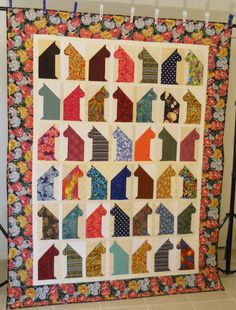 Cat Lover Quilt / Twin Quilt / Oversized Twin by SamBabyStudio