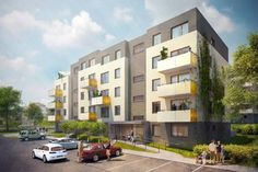YIT Koti Hyacint - new energy pasive  apartment building development in Prague. Certificated by The Passive House Institute