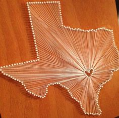 DIY Wall Art: Pins + String + Mounting (Wood, Canvas, etc.)   Representing your state through art