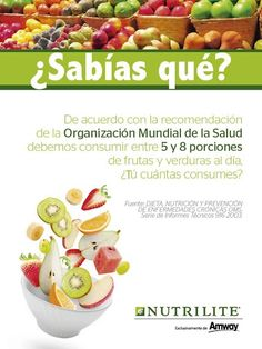 Sabias que? Nutrilite, Green Life, Dog Food Recipes, Health, Business Products, Honduras, Vitamins, Eco Friendly Homes, Amway Products
