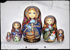 Zolotovskaya - Matryoshka Shop➕➖Russian Nesting Dolls / Matryoshka Folk Art➕More Pins Like This At FOSTERGINGER @ Pinterest ➖✖️