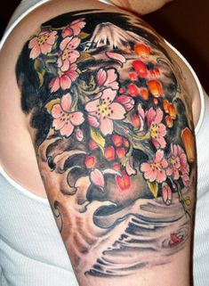Traditional Japanese Tattoo - love the floating lanterns