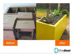 Reuse of a filing cabinet as a garden planter: http://on.fb.me/1nVolzo