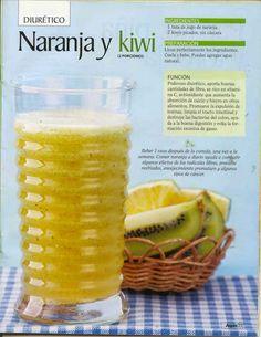 Jugo diurético de naranja y kiwi   -   Orange and kiwi diuretic juice