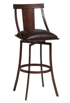 Pastel Furniture Amrita Swivel Barstool Finished In Noyer Metal And  Upholstered In Ford Brown