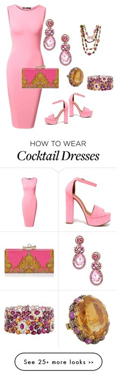 """Pinker than pink"" by lisaaucointarantino on Polyvore featuring Buccellati, Ted Baker and Chinese Laundry"