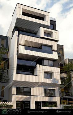 Residential Building Design, Architecture Building Design, Building Facade, Facade Design, Residential Architecture, Exterior Design, Architecture Interiors, 3 Storey House Design, Bungalow House Design