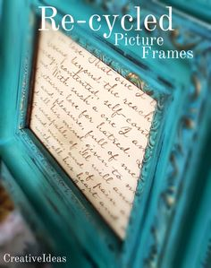 Creative Ideas: Re-Cycled Picture Frames