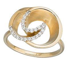 Dreambase Damen-Ring teilmattiert 14 Karat (585) Gelbgold... https://www.amazon.de/dp/B00AEEF26E/?m=A37R2BYHN7XPNV