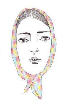 Lady in scarf by Ariel Aberg-Riger.