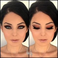 Wow such beautiful makeup and her eyes..