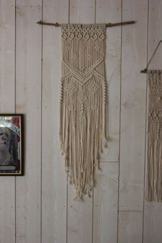 In macrame wall hanging by LefildAmandine on Etsy