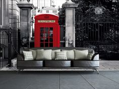 British Phone Box Wall Mural