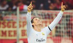 Cristiano celebrating his goal; Bayern Munich 0 Real Madrid 4 (29/4/2014)