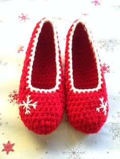Christmas gift , Christmas sleeping wear, Crochet slippers, Lounge slippers, Ballet slippers