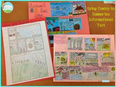 Using comics to summarize informational texts (blog post from Teaching with a Mountain View)