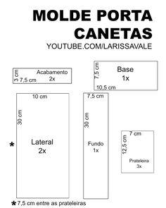 Molde Porta Canetas de Papelão Larissa Vale https://youtu.be/VtEOLmskG2Q