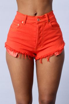 Primary Shorts - Orange Red
