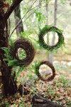 twig and fern wreath backdrop