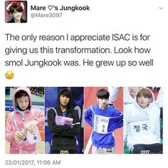 Yup! Agreed! Also it looks like on the 2nd pic Jungkook has gone through the emo phase...