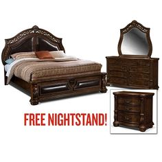 Morocco Bedroom 5 Pc Queen Plus Free Nightstand Value City Furniture 1 499 00