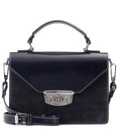 GANNI Gallery Accessories Suede Shoulder Bag. #ganni #bags #shoulder bags #hand bags #suede #lining #