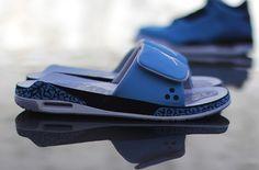 "Air Jordan 3 Slide ""Powder Blue"""