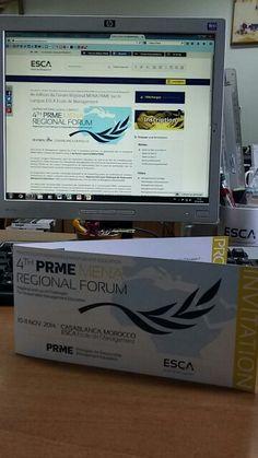 J-14 pour le RDV incontournable au campus de @ESCA_EM : 4e édition du forum régional MENA #PRME