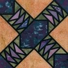 Stained Glass Perpetual Motion Quilt Block Pattern