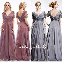 Vintage-Mother-Of-Bridal-Dresses-A-Line-V-Neck-Chiffon-Plus-Size-Evening-Gowns