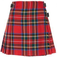 Christopher Kane DNA Mini Kilt (1,850 PEN) ❤ liked on Polyvore featuring skirts, mini skirts, bottoms, plaid, plaid pleated mini skirt, high-waist skirt, red mini skirt and pleated mini skirt