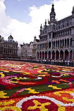 Flower Carpet, Brussels, Belgium world travel viagens pelo mundo Places Around The World, Oh The Places You'll Go, Travel Around The World, Places To Travel, Places To Visit, Around The Worlds, Wonderful Places, Beautiful Places, Bruges