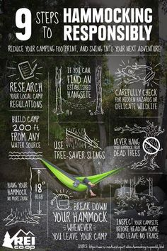 Have you tried hammocking?   REI has some tips for reducing your camping footprint on your next adventure: