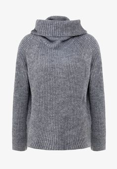 J.CREW POINT SUR ANA TURTLENECK - Strikkegenser - marled grey - Zalando.no Jumper, Men Sweater, Cardigans, Sweaters, Turtleneck, J Crew, Hoodies, Grey, Fashion
