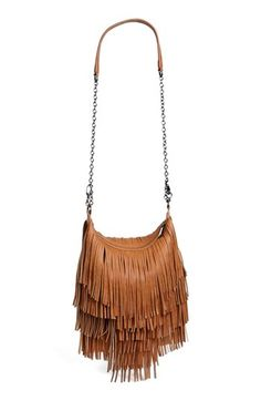 Never saw myself as a fringe kind of girl, but this is fun in all colors. Steven by Steve Madden 'Bmocha' Fringe Crossbody Bag