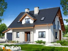 Dom w zielistkach 5 (GA) Home Building Design, Building A House, Design Case, Home Fashion, My Dream Home, Planer, Apartments, Houses, Mansions