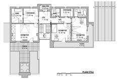 Proiecte de case cu mansarda in forma de L L shaped houses 7