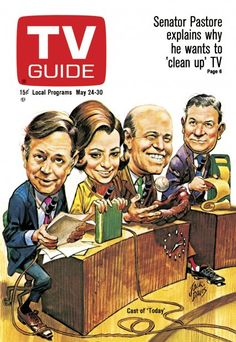 "TV Guide: May 24, 1969 - The Cast of ""Today"" - Hugh Downs, Barbara Walters, Joe Garagiola, and Frank Blair"