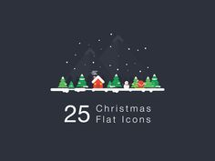 Christmas Flat Icon by madefordesigners  #christmas #icon #santa #illustrations # freebies #free #snow #snowman #winter #design #character