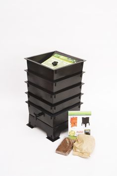This is a great composter kit to do with the kids. Worms are a sign that your compost efforts are working!