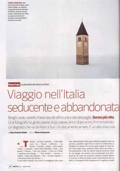 Here's the great article by Gian Antonio Stella, on Sette magazine, the insert of Corriere della Sera, about the project of Silvia Camporesi: Atlas Italiaes. Get a look.