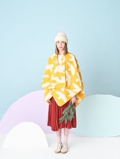 Kauniste is a Finnish lifestyle brand for Nordic design textiles and interior goods. Wool Poncho, Nordic Design, Fashion Moda, Lana, Textiles, Dresses, Little Birds, Colors, Texture