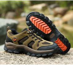 2019 autumn and winter sports shoes outdoor hiking men's shoes, women's shoes, couple models, comfortable mesh breathable shoes Hiking Shoes, Hiking Outfits, Couples Modeling, Hiking Accessories, Hiking Fashion, Men Hiking, Green Shoes, Sneaker Boots, Men S Shoes