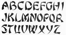 Vector Japan Font Stylized English Alphabet stock vector