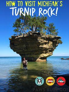 Turnip Rock! Kayak To This Michigan Travel Must-See  •  Detroit  •  adventure  • travel  • pet friendly •  vacation